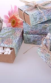 Rond Carré Rectangulaire Papier durci Titulaire de Faveur avec Ruban Imprimé Boîtes à cadeaux