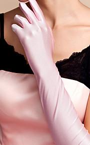 Spandex Katoen Polslengte Ellebooglengte Handschoen Amulet Stijlvol Bruidshandschoenen With Borduurwerk Effen