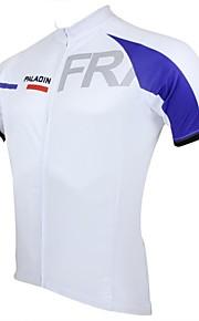 ILPALADINO Homme Manches Courtes Maillot de Cyclisme Vélo Maillot, Séchage rapide, Résistant aux ultraviolets, Respirable