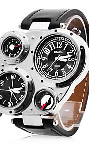Henkilökohtainen lahja Watch, Kaksois-aikavyöhyke Japanilainen kvartsi Watch With Metalliseos Kotelon materiaali PU Bändi Armeijakello
