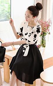 Women's Going out Vintage Dress,Print Mini / Knee-length ½ Length Sleeve Spring / Fall