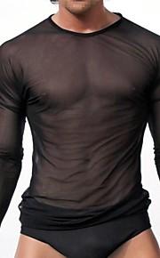 Hombre Sexy Camisetas Interiores Slip Un Color