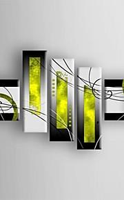 Hang malte oljemaleri Håndmalte - Abstrakt Moderne Tradisjonell Fem Paneler