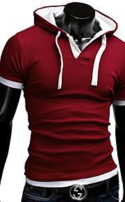 Ανδρικά T-shirt Καθημερινό Με Τύπωμα/Απλό Κοντομάνικο Βαμβάκι/Πολυεστέρας