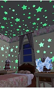 Forme Stickers muraux Autocollants muraux lumineux Autocollants muraux décoratifs, Vinyle Décoration d'intérieur Calque Mural Mur