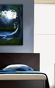LED-kanvaskonst Landskap En panel Vertikal Tryck väggdekor Hem-dekoration