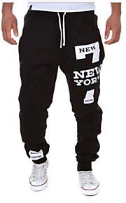 Homme Actif / Basique Coton Ample Joggings Pantalon - Lettre Noir / Rouge / Sports / Cordon / Fin de semaine