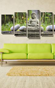 Paysage Personnage Photographie Moderne, Cinq Panneaux Format Horizontal Imprimé Décoration murale Décoration d'intérieur