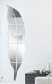 Forme 3D Stickers muraux Miroirs Muraux Autocollants Autocollants muraux décoratifs, Vinyle Décoration d'intérieur Calque Mural Mur