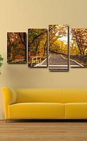 Fotografiskt Tryck Landskap Klassisk Moderna, Fem paneler Horisontell Tryck väggdekor Hem-dekoration