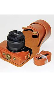 82999fb0d77 dengpin® pu δέρμα κάμερα τσάντα περίπτωση να καλύπτουν με ιμάντα ώμου για  Canon EOS M10