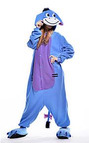 어른' 올인원 캐릭터 파자마 당나귀 동물 점프수트 파자마 폴라 플리스 블루 코스프레 에 대한 남자와 여자 동물 잠옷 만화 페스티발 / 홀리데이 의상