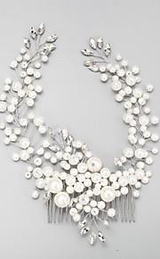 Napodobenina perel Štras Slitina Vlasy Hřebeny 1 Svatební Zvláštní příležitosti Přílba