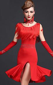 c26f7c5529 Latin tánc Ruhák Női Teljesítmény Spandex Viszkóz Rojt Ruha Rövidnadrágok