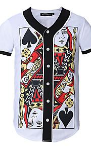 Hombre Deportes / Trabajo Estampado Camiseta Gráfico Blanco XL / Manga Corta