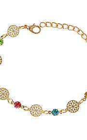 Damen Ketten- & Glieder-Armbänder - Modisch Kreisförmig Silber Golden Armbänder Für