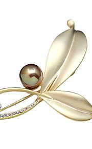 Dames Broches - Kristal Broche Zilver / Gouden Voor Feest / Dagelijks / Causaal
