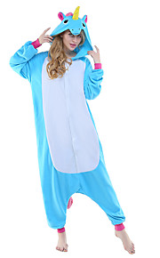 Dospělé Pyžama Kigurumi Unicorn Létající kůň Zvířecí Pyžamo Onesie polar fleece Modrá / Žlutá + modrá / bílá + šedá Cosplay Pro Dámy a pánové Animal Sleepwear Karikatura Festival / Svátek Kostýmy