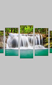 Tirages Photographique Ensembles de Toile Toile Paysage Loisir Botanique Photographie Réalisme Voyage Cinq Panneaux Format Horizontal