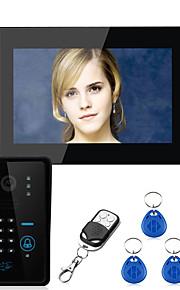 Ennio toccare il tasto 7 a cristalli liquidi del sistema videocitofonico password di RFID telefono intercomunicante con incantevoli