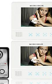 videocitofono a colori TFT LCD touch screen fissato il video citofono sistema citofono del campanello 2 monitor di ennio7 da 7 pollici