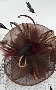 Plume Filet Fascinators Voiles Birdcage 1 Mariage Occasion spéciale Décontracté Casque