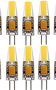 YWXLIGHT® 10pcs 4W 250-350lm G4 LED-spotlys T 1 LED Perler COB Dekorativ Varm hvid Kold hvid Naturlig hvid 12-24V