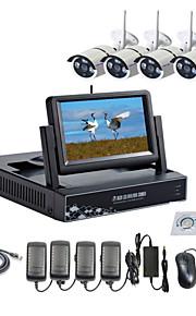 strongshine® draadloze ip-camera met 960p infrarood waterproof en nvr met 7 inch lcd combo-kits