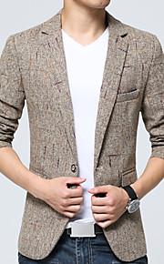Men's Plus Size Blazer - Color Block