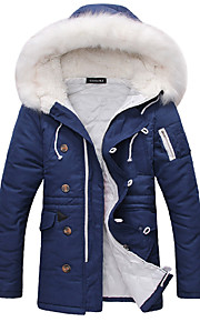 Men's Padded - Solid Hooded