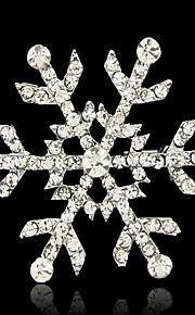 Dames Broches - Sneeuwvlok Broche Goud / Zilver / Gouden Voor Bruiloft / Feest / Halloween