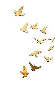 Dyr Spejle Tegneserie Vægklistermærker 3D mur klistermærker Vægklistermærker i Spejlstil Dekorative Mur Klistermærker, Akryl Hjem