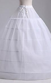 Bröllop Speciellt Tillfälle Fest / afton Underklänningar Polyester Tyll Golvlång A-linjeformad Underkjol/klänning Balklänning Underkjol