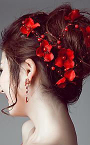 Napodobenina perel   Satén Čelenky   Květiny   Řetěz hlavy s 1 Svatební    Zvláštní příležitosti 0b589b6611