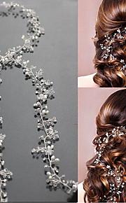 真珠 / クリスタル フラワー  -  ヘッドバンド / 帽子 / ヘッドチェーン 1個 結婚式 / パーティー かぶと
