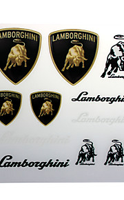 Pvc auto sticker decal emblem badge voor lamborghini