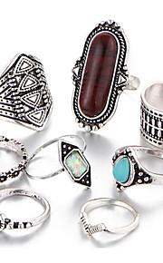 Dámské Prsten Slitina dámy Neobvyklé Jedinečný design Vintage Fashion Ring Šperky Zlatá / Černá / Hnědá Pro Denní Jedna velikost