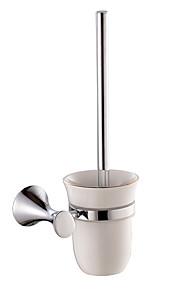 Toalettbørsteholder Høy kvalitet Moderne / Nutidig Chrome 1 stk - Hotell bad