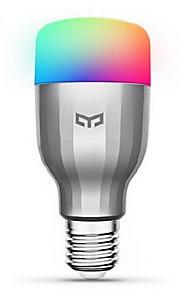 Xiaomi 1pc 9W 600lm E26 / E27 Smart LED-lampe 19 LED Perler SMD Fungerer med Amazon Alexa Google Startside Varm hvid Kold hvid RGB