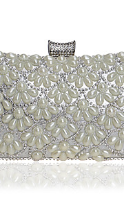 Women's Bags PU Evening Bag Crystal Detailing Pearl Detailing for Event/Party All Seasons Blue Gold Black Silver Red