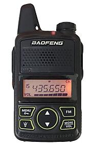 BAOFENG T1 Walkie-talkie Håndholdt Advarsel Om Lavt Batteri Programmerbar med PC software Strømsparefunktion Kryptering CTCSS/CDCSS