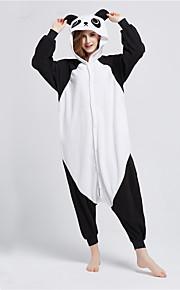 어른' 올인원 캐릭터 파자마 팬더 동물 점프수트 파자마 폴라 플리스 블랙 / 화이트 코스프레 에 대한 남자와 여자 동물 잠옷 만화 페스티발 / 홀리데이 의상