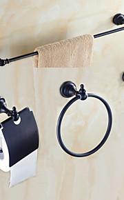 Bad Zubehör-Set Gute Qualität Antike Metal 4pcs - Hotelbad Turmring Turm Bar Kleiderhaken Toilettenpapierhalter Wandmontage