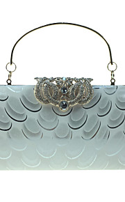Women's Bags leatherette Evening Bag Crystal Detailing Pattern / Print for Wedding Event/Party Formal All Seasons Blue Silver Wine