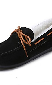 f75ec0ea1d3 Γυναικεία PU Χειμώνας Ανατομικό / Γούνα επένδυση Παπούτσια Boat Στρογγυλή  Μύτη Γκρίζο / Καφέ / Κρασί