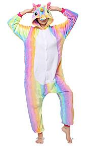 어른' 코스프레 코스츔 올인원 캐릭터 파자마 Unicorn 페가수스 조랑말 점프수트 파자마 Flanellikangas 레인보우 코스프레 에 대한 남자와 여자 동물 잠옷 만화 페스티발 / 홀리데이 의상