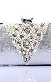 Women's Bags Polyester Evening Bag Crystal Detailing Pearl Detailing for Wedding Event/Party All Seasons Gold Black Silver