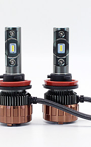 SO.K 2pcs Bil Elpærer W Integreret LED lm 2 Hovedlygte Alle år
