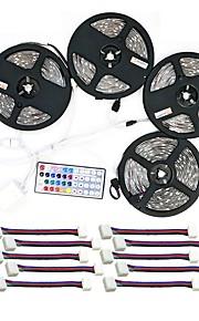 ZDM® 600 светодиоды Светодиодный прожектор 4x 5M 1 пульт дистанционного управления 44Keys 1x 1 до 4 разъема кабеля 10 разъемов RGB Можно