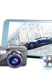 mini 4.0 ips doppia lente auto dvr auto fotocamera auto dvr dash cam nera scatola videocamera fhd 1080p registratore video registratore